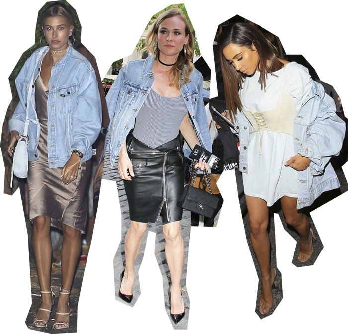 stylish-outfit-inspiration-denim-jackets-hailey-baldwin-diane-kruger-kim-kardashian