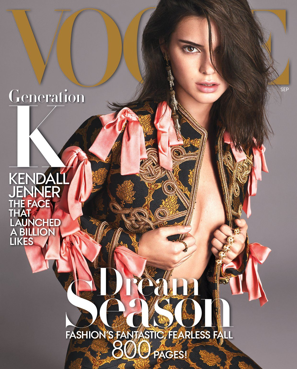 Kendall Jenner covers Vogue September 2016 issue (wears Gucci)