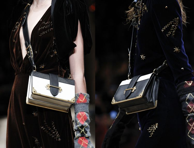 Diane and Veronika's bags are Prada Fall 2016.