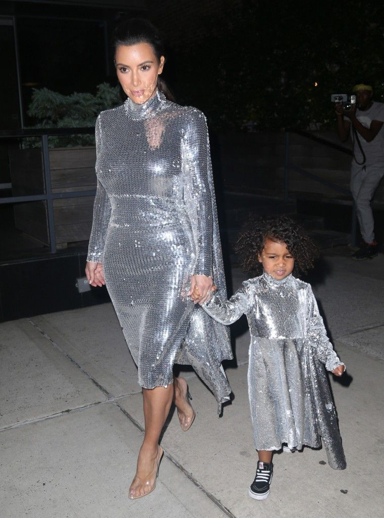 vetements-silver-sequin-dress-kim-kardashian-north-west