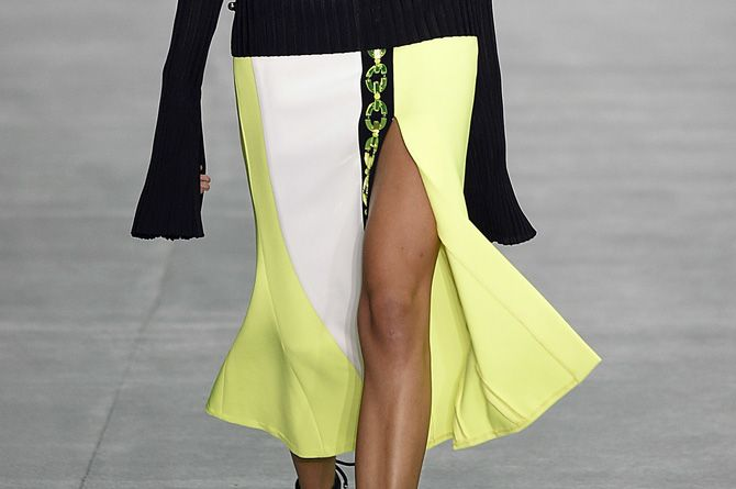 The skirt every designer put on the runway for spring and is already trending this fall