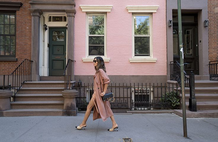 The definitive way to wear a slip dress for fall