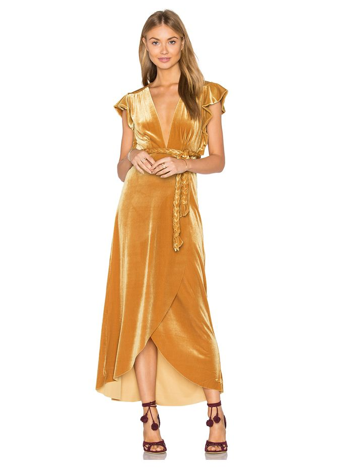 LAIA'S PICK: MISA Los Angeles velvet wrap dress availavle at REVOLVE.com