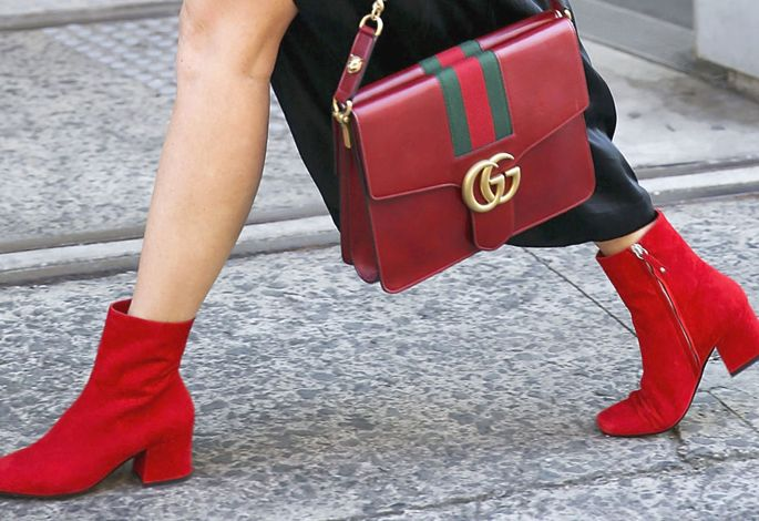 Are these the most Christmas-appropriate ankle boots of the season?