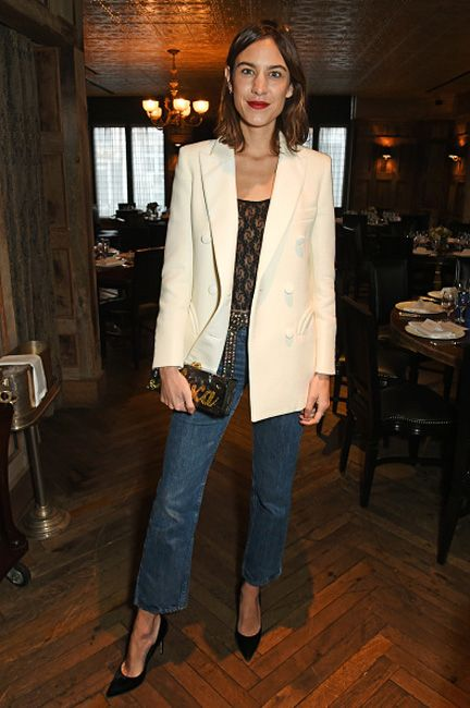 alexa-chung-jeans-party-outfit-british-fashion-awards-nominees-lunch-2016