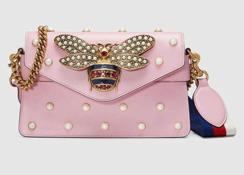 gucci-broadway-pink-leather-mini-bag-emebellished-with-pearls-and-crystals-metal-bee