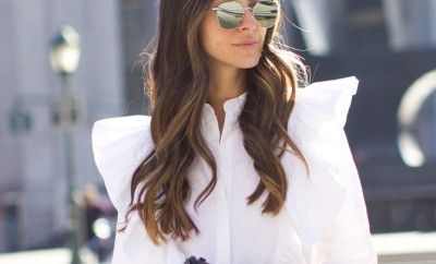 statement-white-blouse-with-jeans-perfect-outfit