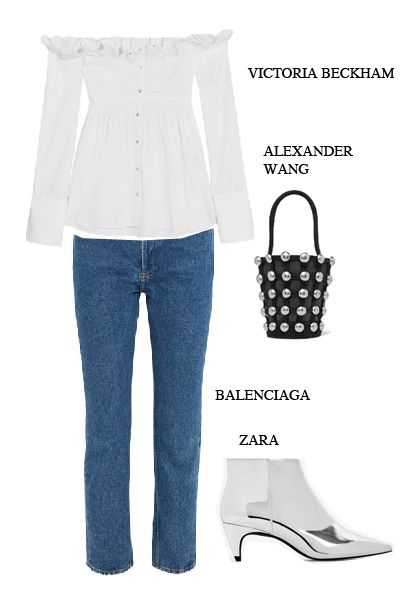 white-statement-blouse-jeans-outfit-holiday-season