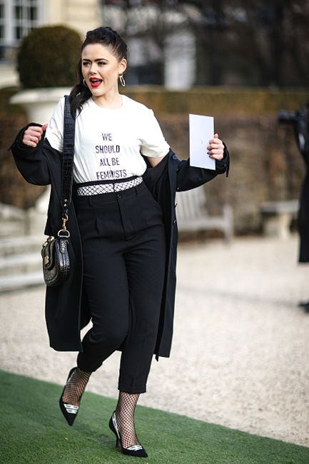 kristina-bazan-dior-haute-couture-spring-2017-front-row-we-should-all-be-feminists-t-shirt-outfit