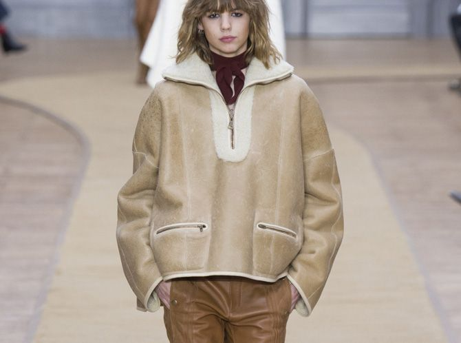 Now craving: Chloé's reversible shearling-lined jacket