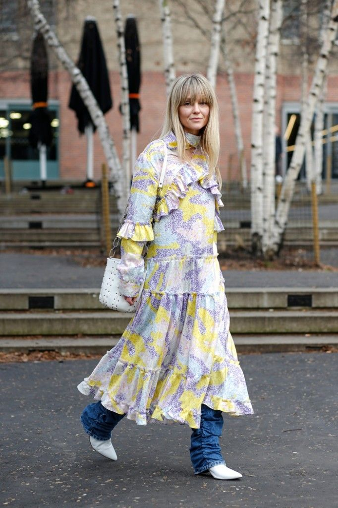 dress-over-jeans-outfit-street-style-london-fashion-week