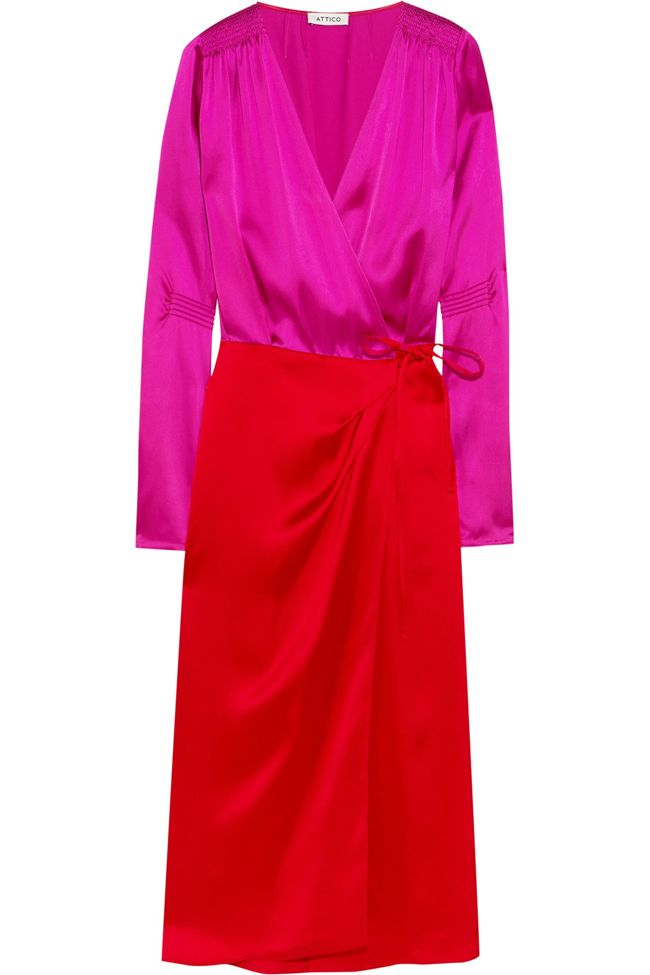 shop-attico-two-tone-satin-wrap-dress