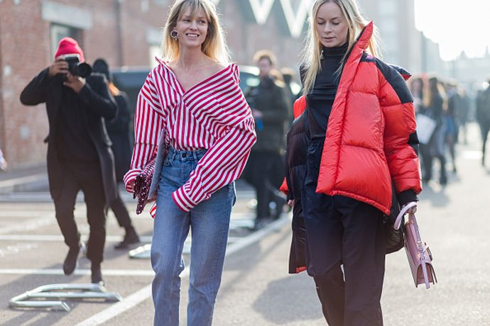 The oversized striped shirt we've seen everywhere during fashion month