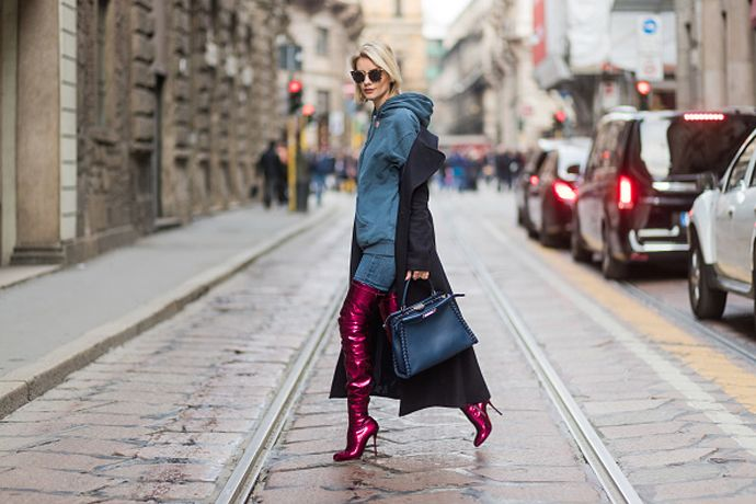 Everyone carried this brand's bags around Milan during fashion week