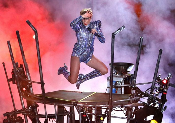 Gaga goes Versace (at the Super Bowl Halftime Show)
