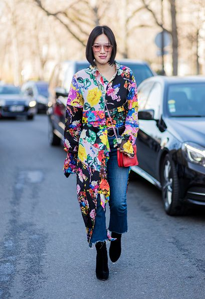 tiffany-hsu-floral-dress-over-jeans-outfit-inspiration-street-style