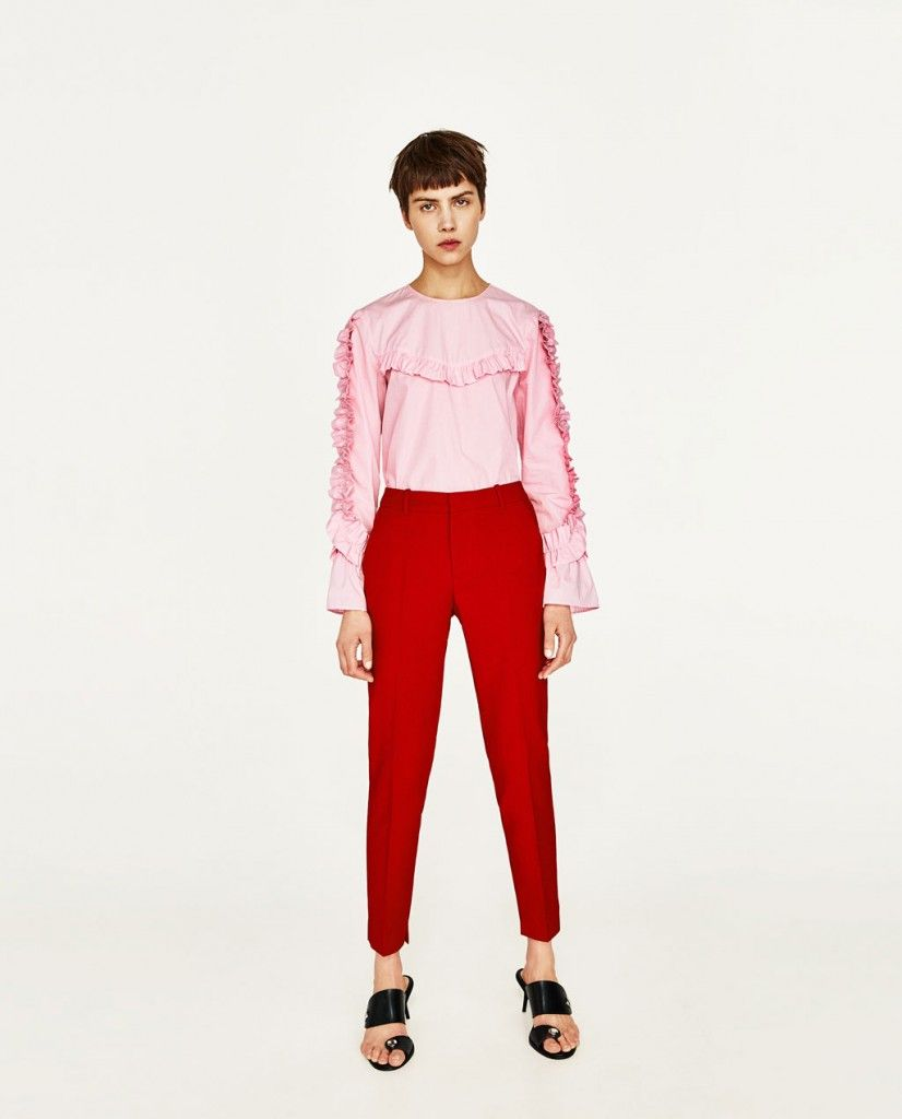 zara-pink-shirt-red-pants-spring-2017