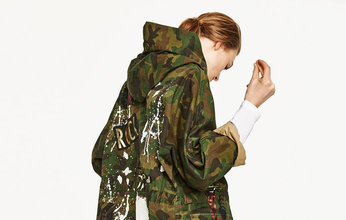 Cool girls make the case for the camouflage parka