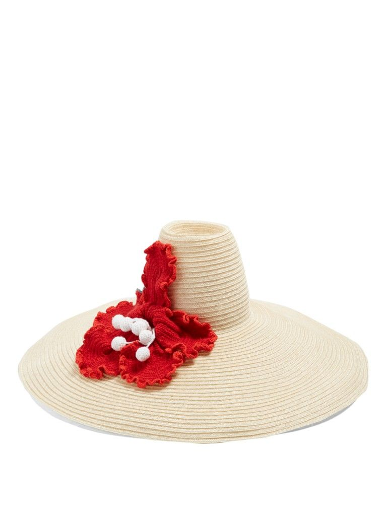 rosie-assoulin-flower-crochet-oversized-hemp-straw-hat