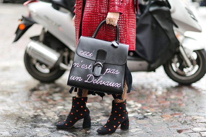 Now trending: slogan-printed bags