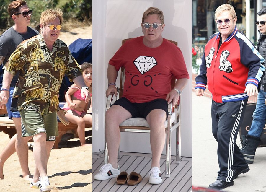 Elton-John-Wearing-Gucci-outfits