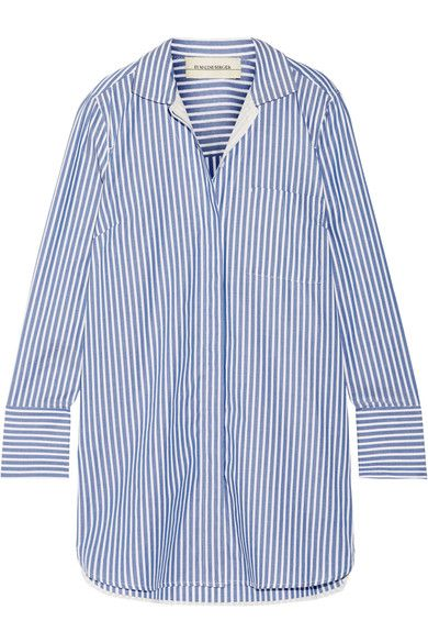 By Malene Birger striped cotton-poplin oversized shirt available HERE