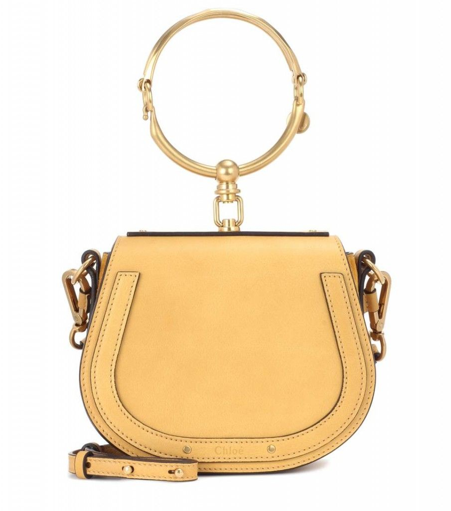 chloe-nile-small-bracelet-bag-ochre-yellow-leather-suede