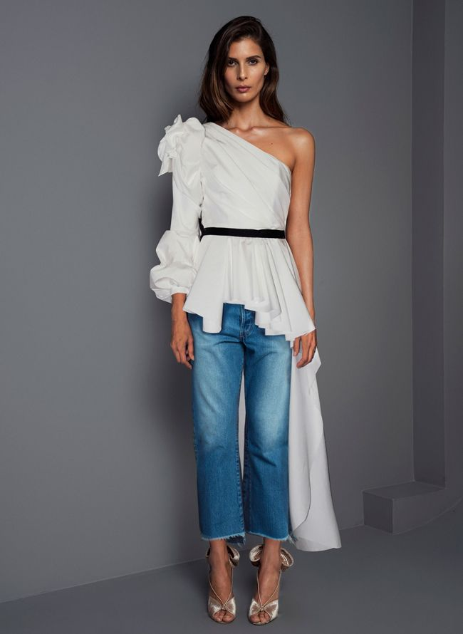 johanna-ortiz-evening-asymmetrical-top-blouse-outfit-fall-2017