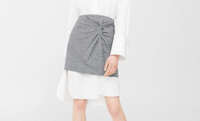 mango-oversized-white-button-down-under-wrap-miniskirt-styling-trick-spring-2017