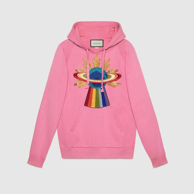 shop-gucci-planet-rainbow-embroidered-pink-felted-cotton-hooded-sweatshirt