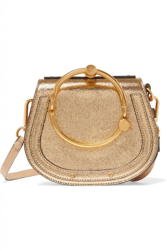 shop-chloe-nile-small-bracelet-bag-in-gold-metallic-leather-and-suede