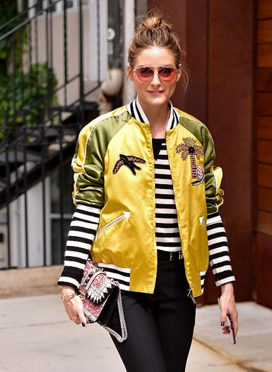 shop-olivia-palermo-silk-satin-bomber-jacket-palm-tree-applique-valentino-resort-2018-fashion-show
