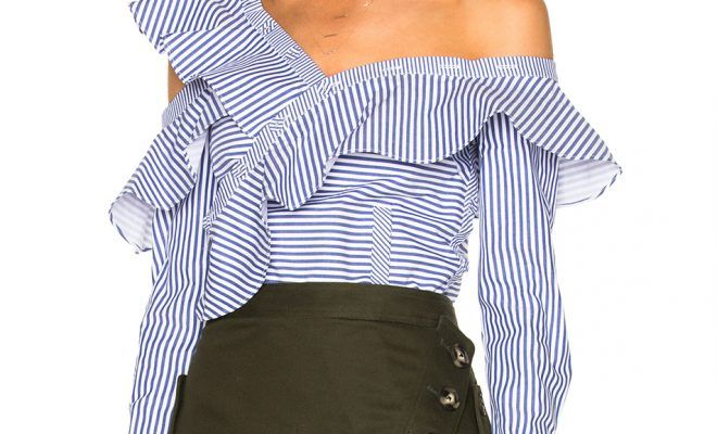 shop-self-portrait-striped-frill-shirt-shoulder-baring-cut