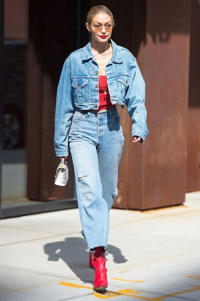 gigi-hadid-double-denim-look-red-sexy