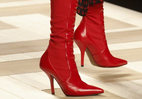 The red over-the-knee boots that Gigi and Kendall wear in the latest Fendi ad campaign are beyond cool