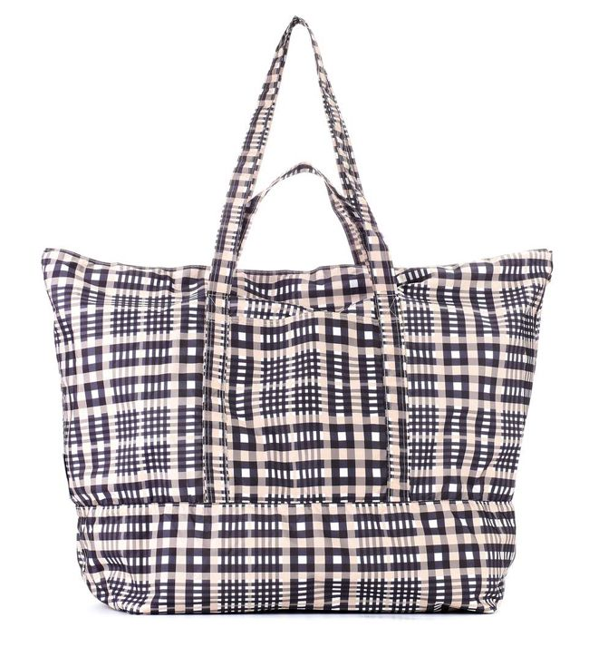 shop-ganni-fairmont-checked-tote-bag