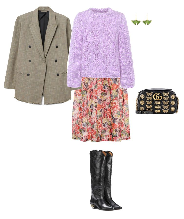 outfit-idea-floral-print-midi-skirt-fall