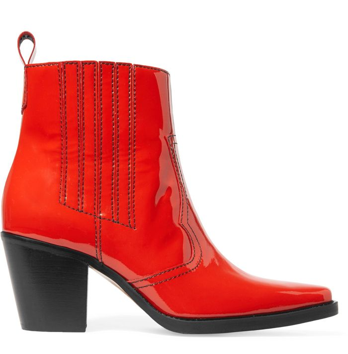 shop-ganni-red-patent-leather-cowboy-boots