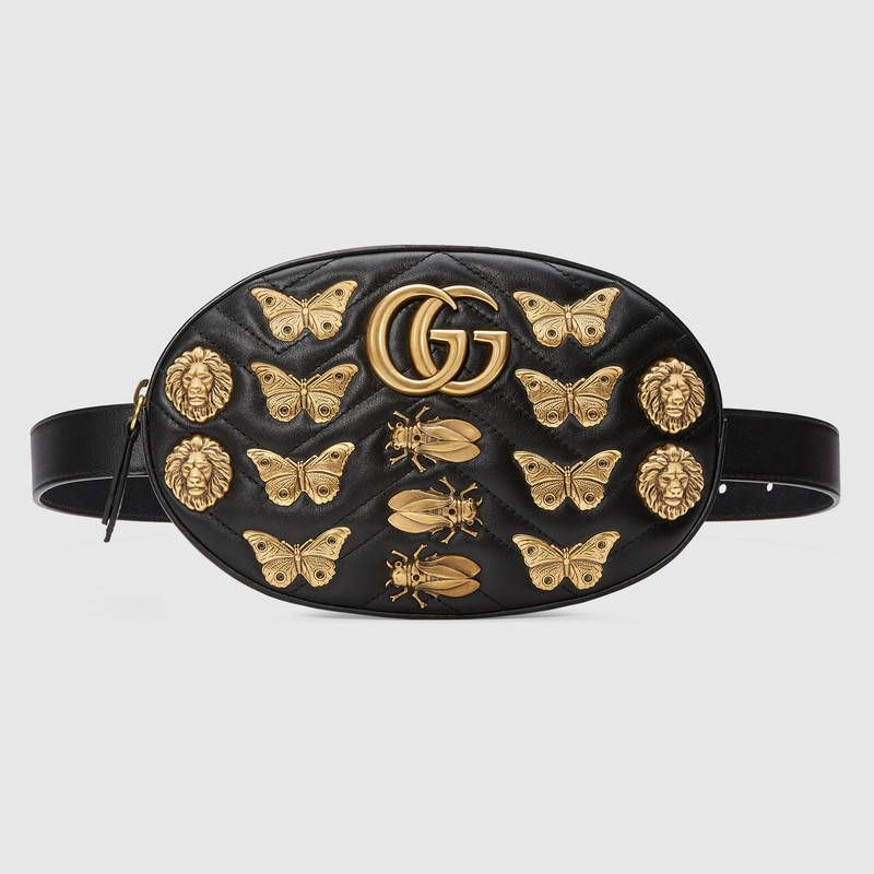 hop-gucci-gg-marmont-animal-studs-black-leather-belt-bag