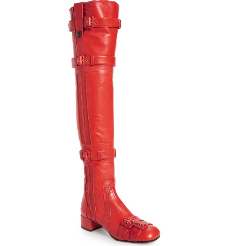 shop-prada-buckle-straps-over-the-knee-boots