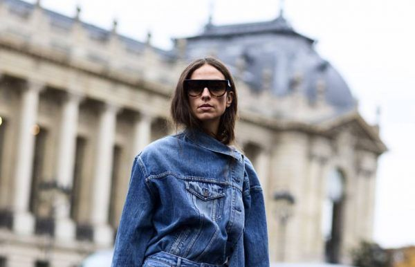 Fashion girls nailed the Balenciaga deconstructed denim look when in Paris