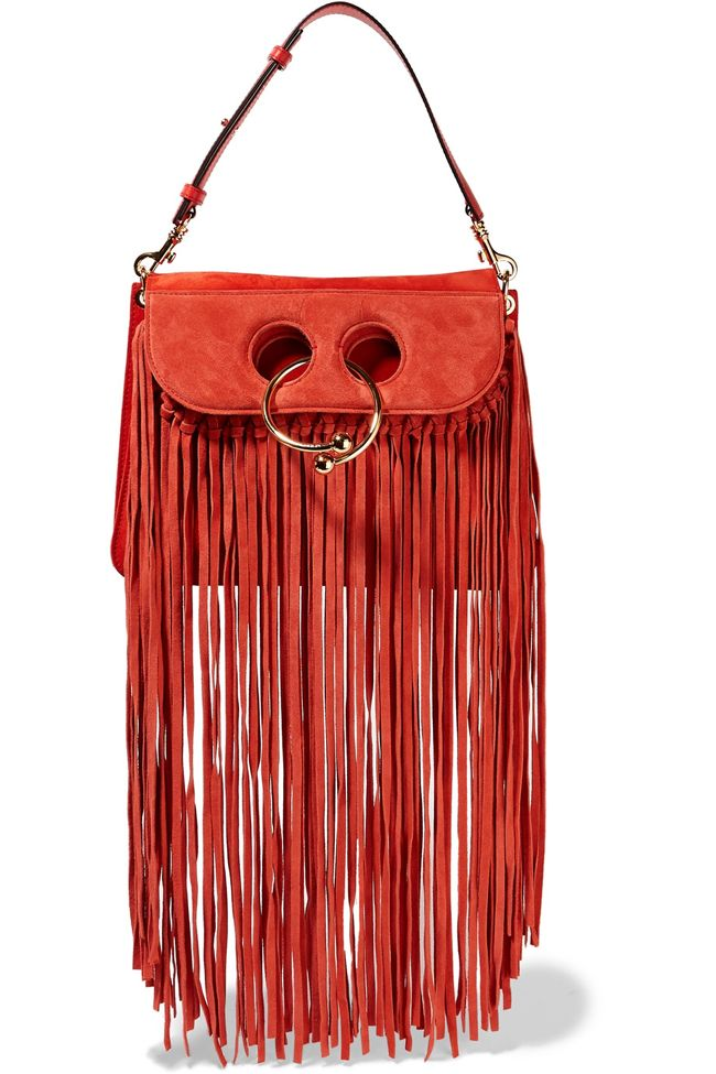 jw-anderson-pierce-red-suede-fringed-shoulder-bag