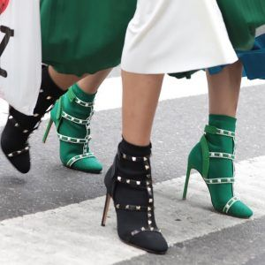 valentino-rockstud-stretch-knit-ankle-boot