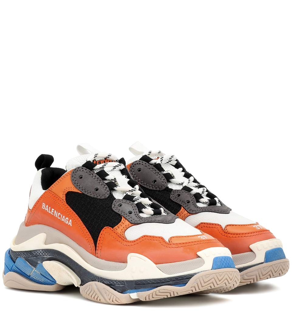 shop-balenciaga--triple-s-orange-black