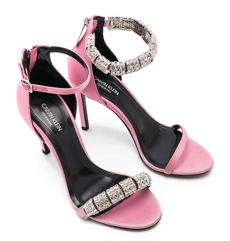 CALVIN-KLEIN-205W39NYC-pink-satin-sandals-embellished-with-swarovski-crystals