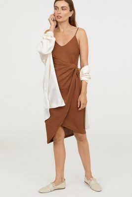 This Jacquemus-approved draped wrap-front dress will make your day (and your summer)
