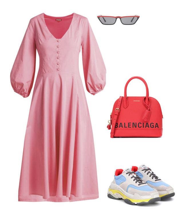 staud-midi-pink-dress-inspiration-outfit