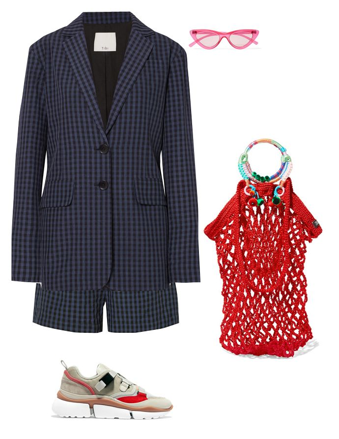 tibi-gingham-co-ord-suit-summer-outfit-inspiration