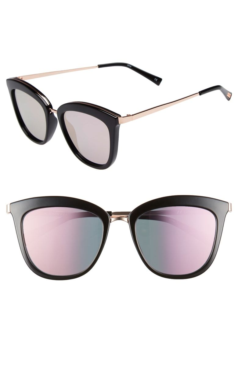 le-specs-caliente-cat-eye-sunglasses-black-rose-gold-nordstrom-anniversary-sale