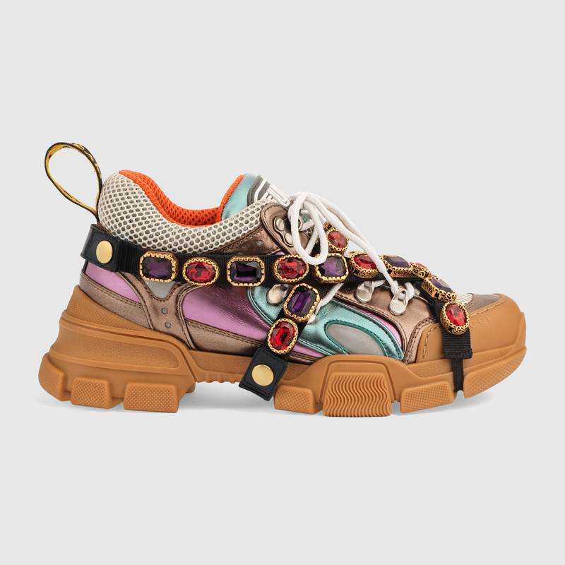 shop-gucci-flashtrek-sneaker-removable-crystals-multicolor-metallic-leather
